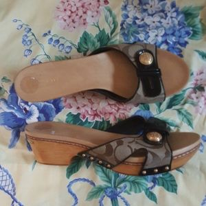 COACH-SANDALS WITH WOOD SOLES